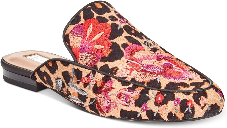 Inc Womens Gannie Cow Hair Embroidered Slides Tan 5.5 Medium (B,M)