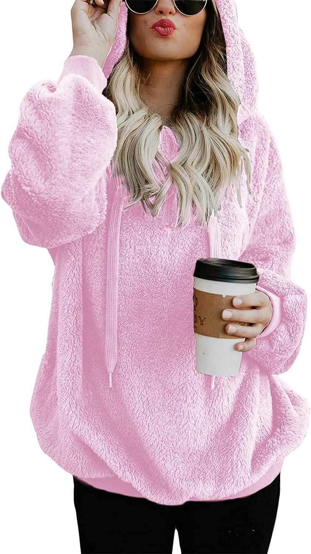 Century Star Hoodies for Women Fleece Hoodie with Pockets Athletic Hooded Pullover Tops Winter Fuzzy Hoodies Fuzzy Sweatshirt
