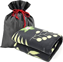forestfish Fleece Throw Blanket Cozy Soft Portable Travel Blanket Compact for Long Car Airplane Train Rides 60