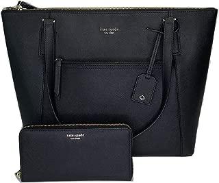 Cameron Pocket Tote WKRU5841 bundled with matching Cameron Large Wallet WLRU5449 (Black)