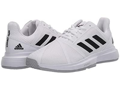 adidas CourtJam Bounce (Footwear White/Core Black/Matte Silver) Men