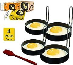 YAGITools Egg Rings Mold- Set of 4 Round Egg Rings for Egg McMuffins - Rust & Leak proof Egg Rings for Frying Eggs - Egg M...
