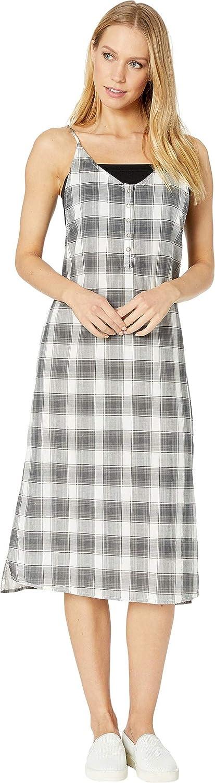 Hurley Womens Tank Plaid Maxi Dress Casual Dress