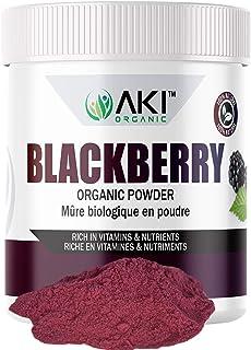 Aki Organic Blackberry Powder Dried Superfood Rich in Antioxidant, Sugar Free Bulk Powdered Blackberries Fruit For Baking,...