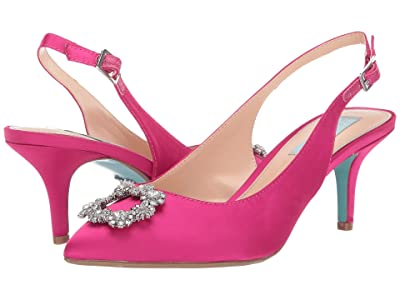 Blue by Betsey Johnson Isla Pump (Fuschia Satin) Women