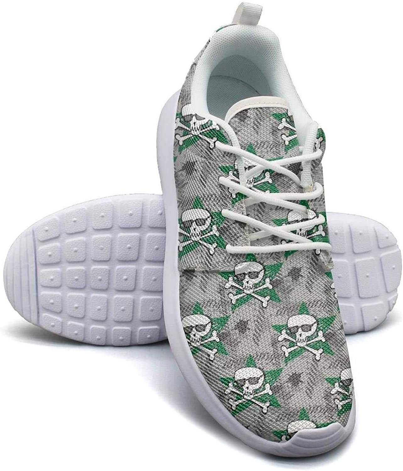 Gjsonmv Hipsters Skull Print mesh Lightweight shoes for Women Summer Sports Track Sneakers shoes
