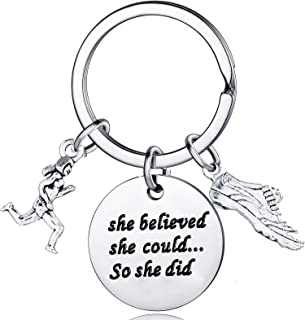 Runner Women She Believed She Could So She Did Keychain Teen Girls Gifts