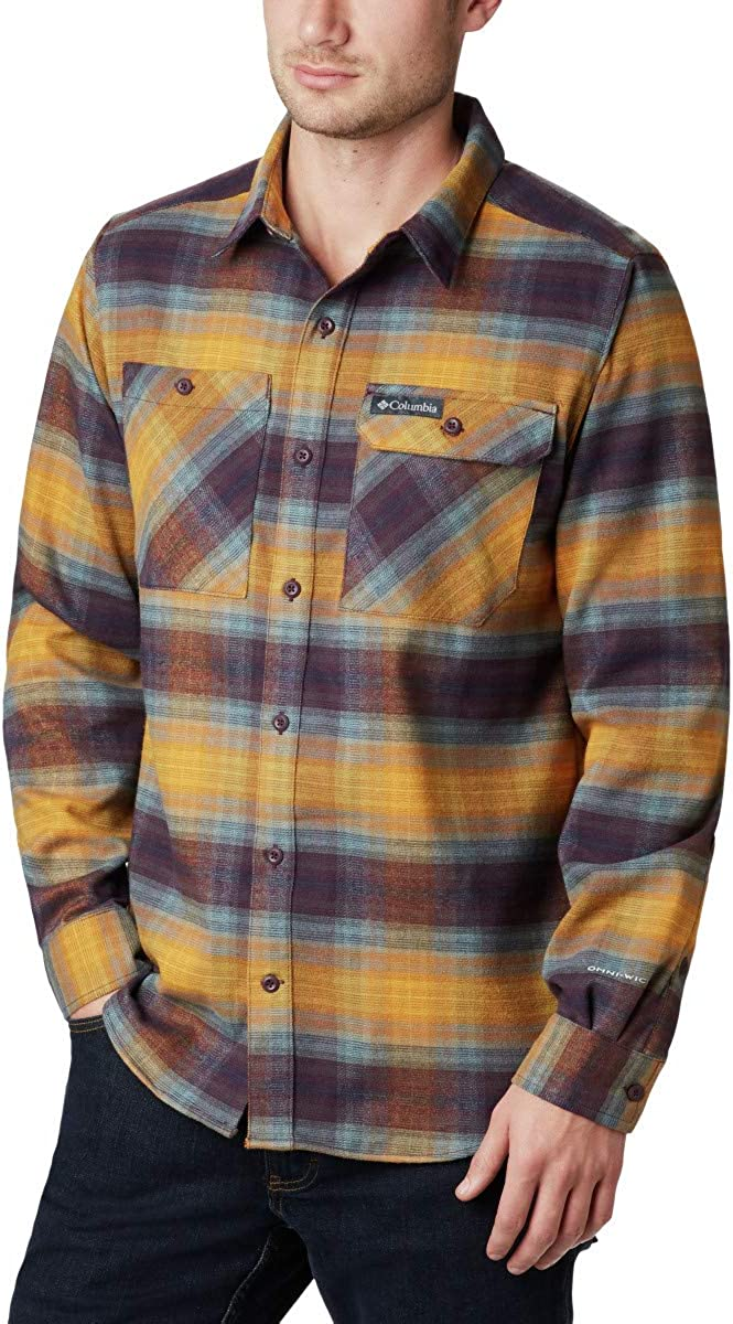 Columbia Men's Extended Outdoor 1 year warranty Flannel outlet Stretch Elements