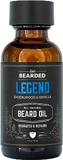 ریش زنده: روغن ریش - Legend - حق ریش و مراقبت از پوست با روغن جوجوبا - 1 پوند. اونس - خارش ریش و تسکین پوست خشک - ساخته شده با مواد اولیه کاملاً طبیعی - ساخت کشور آمریکا