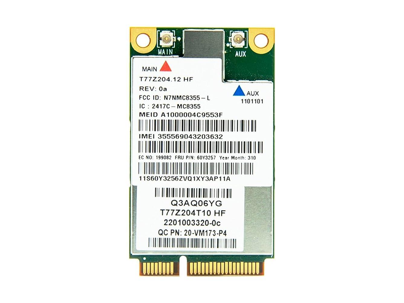 回転する蘇生する忍耐Lenovo純正 Sierra Wireless MC8355 Gobi 3000 3G HSPA+ GPS ワイヤレスWAN WWANカード 60Y3257 for Thinkpad X1, X121e, X130e, X131e, X220, X220i, X220 Tablet, X220i Tablet, X230, X230i, X230 Tablet, X230i Tablet, T420, T420i, T420s, T420si, T430, T430i, T430s, T430si, T520, T520i, T530, T530i, W520, W530, L420, L421, L430, L520, L530, S430
