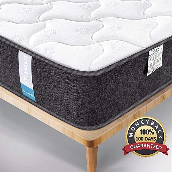 Single Mattress Inofia Hybrid Innerspring Twin Mattress With Super Comfort Breathable Cover 9 Inch Depth 100 No Risk Night Trial