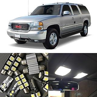NSLUMO 10Pcs Auto Interior LED Lights Bulb Kit No Error For 2000-2006 GMC Yukon XL 1500 Map Dome License Plate Light Car l...