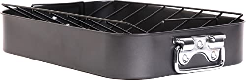 discount Gibson online sale Home Top roast pan, roaster with high quality rack, 1 outlet sale