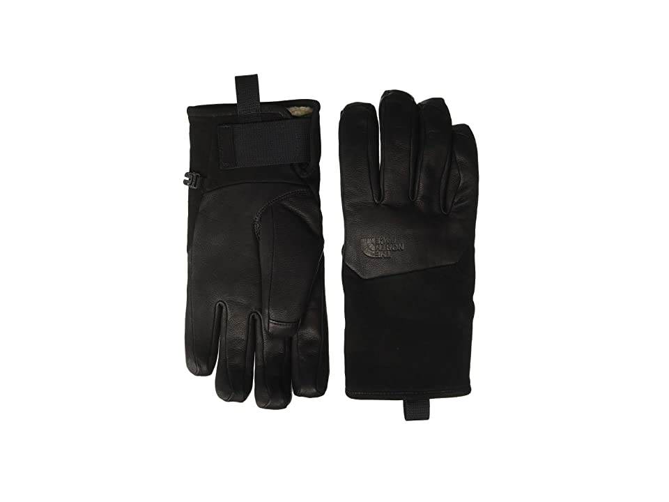 The North Face Leather IL Solo Gloves (TNF Black) Extreme Cold Weather Gloves