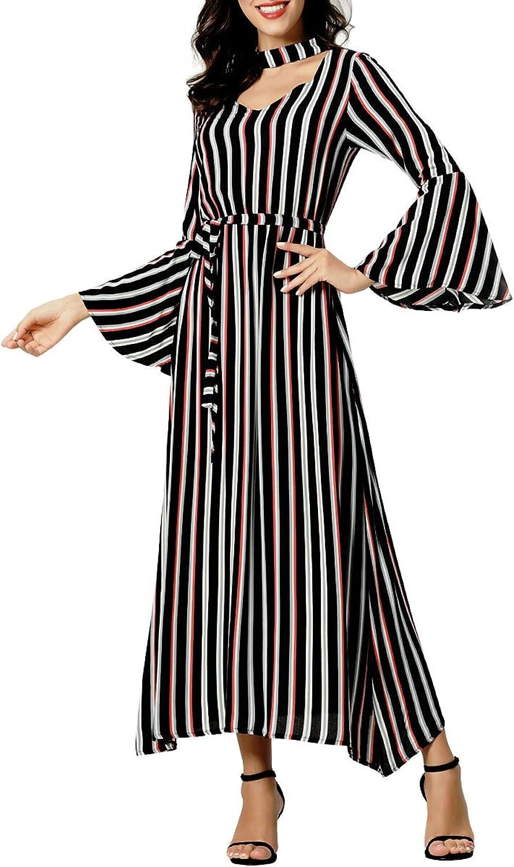 Baya Women's Halter Neck Floral Summer Casual Sundress Maxi Dresses Casual Long Dresses