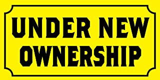 Pre-Printed - Under New Ownership Banner - Solid - Yellow (8` x 4`)