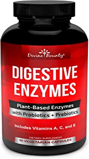 Digestive Enzymes with Probiotics & Prebiotics - Digestive Enzyme Supplements w Lipase, Amylase, Bromelain - Support a Hea...