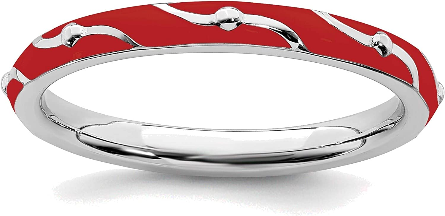 Bonyak Ranking TOP15 Jewelry Solid Sterling Silver Red E Stackable Direct sale of manufacturer Expressions
