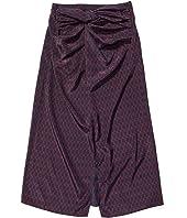 Wrap Mix Midi Skirt