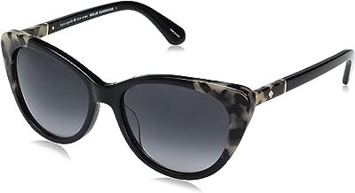 Kate Spade Women's Sherylyn/s SHERYS Cateye Sunglasses, BLACK HAVANA/DARK GRAY GRADIENT, 54 mm