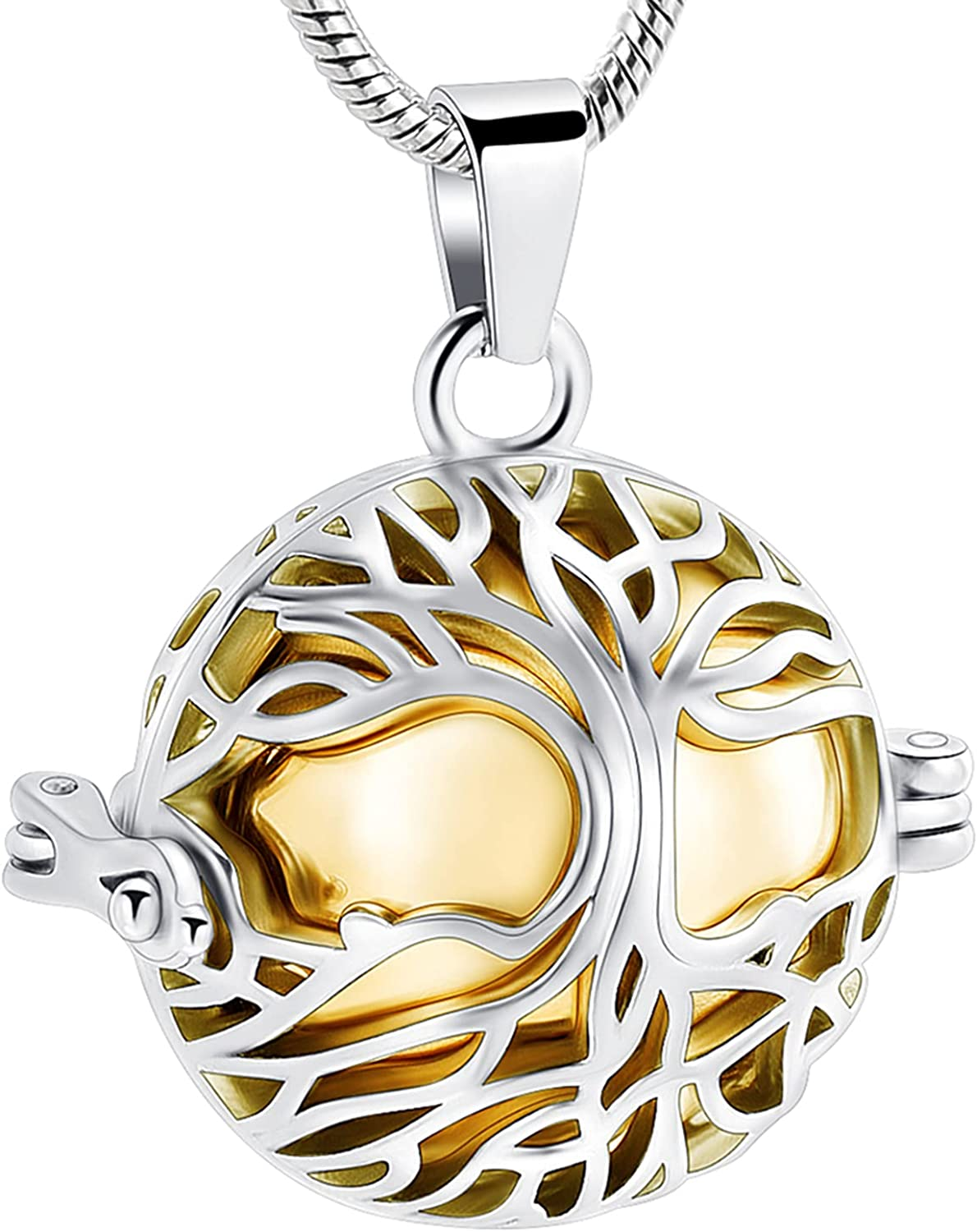 zeqingjw Tree of Life Cremation for Memorial Directly managed store Ashes Necklace Year-end gift Urn