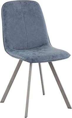 WE Furniture AZH18URB2CL Dining Chair Set of 2 Charcoal