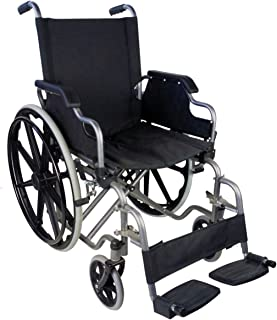Mobiclinic, Silla de ruedas, Plegable, Ruedas grandes, Ortopédica, Reposabrazos abatibles, Asiento de 46 cm, Negro, Giralda