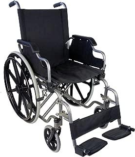 Silla de ruedas, Plegable, Ruedas grandes, Ortopédica, Reposabrazos abatibles, Negro, Giralda, Mobiclinic