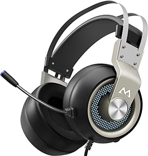 Mpow EG3 Pro - Over Ear Gaming Headset with 7.1 Surround Sound, Compatible with PC,PS4,Xbox One, LED Light, Noise Can...