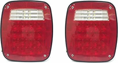 MaxxHaul 80685 2 Pack Universal Square 12V Combination 38 LED Signal Tail Light - for Truck, Trailer, Boat, Jeep, SUV, RV, Vans, Flatbed - 2 Pack, 2 Pack