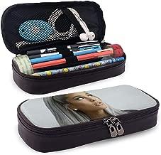 Davisry Leather Pencil Case Aria-na-Gran-de Pen Pouch Stationery Bag School Portable Storage Kit Makeup Box Holder