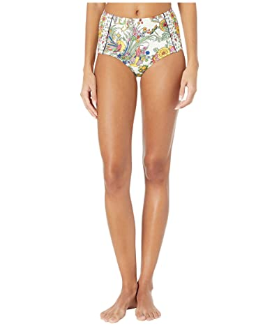 Tory Burch Swimwear Printed High-Waisted Bottoms (New Ivory Promised Land) Women