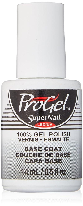 気体の不愉快に柔らかさSuperNail ProGel Gel Polish - Base Coat - 0.5oz/14ml