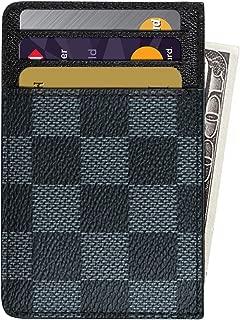 Slim Card Holder RFID Front Pocket Leather Designer Wallet – Black