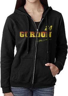 KOBT Women's Jeff Gordon-nascar Full Zip Sweatshirt Jackets Black