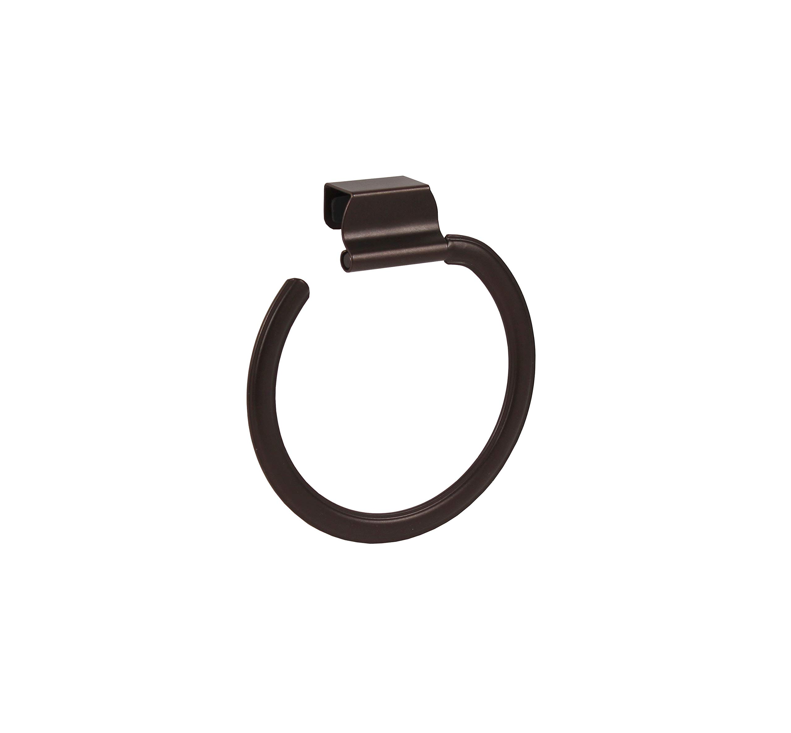 Spectrum Diversified Ashley Over-The-Cabinet Towel Ring, Bronze