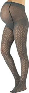 CALZITALY Maternity Tights, Cotton Pregnancy Pantyhose | S, M, L, XL | GREY | MADE IN ITALY |
