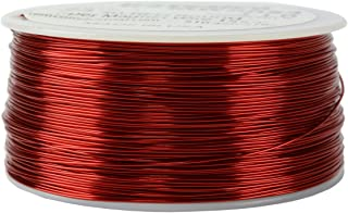 TEMCo 24 AWG Copper Magnet Wire - 1 lb 791 ft 155°C Magnetic Coil Red