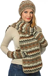 Icelandic Wool 3 Pieces Set of Hat Mittens and Scarf by Freyja Canada