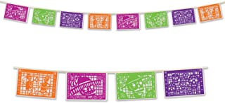 Beistle Day Of The Dead Picado Banner, 8 by 12-Feet, Multicolor