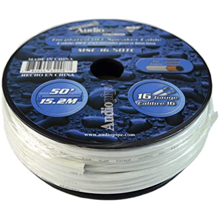 50 Ft Awg 16 Gauge Tin Copper Plated OFC Marine Grade Speaker Audio Cable Wire