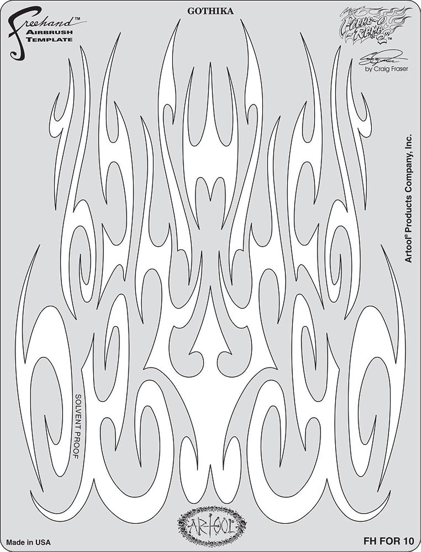 Artool Freehand Airbrush Templates, Flame-O-Rama 2 - Gothika