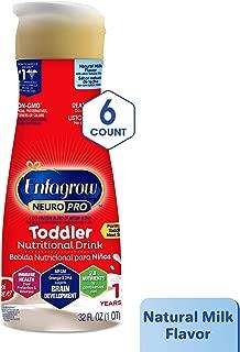 开瓶即喝的Enfagrow toddler 天然牛奶?–?8盎司 天然牛奶 32 oz (Pack of 6) 32