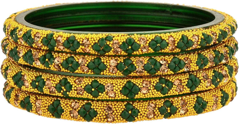 Efulgenz Indian Bollywood Wedding Rhinestone Crystal Glass Handmade Acrylic Bracelet Bridal Bangle Set Jewelry