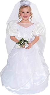 Forum Novelties Designer Collection Deluxe Costume Wedding Dress and Veil, Toddler Size