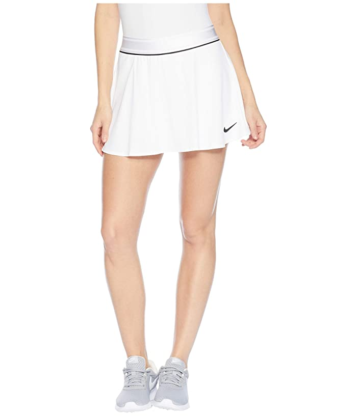 Nike Court Dry Skirt Flouncy (White/Black/White) Women