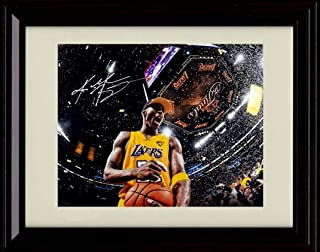 Framed Kobe Bryant Autograph Replica Print - Another Championship - Lakers