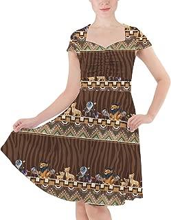 Rainbow Rules Tribal Stripes Lion King Disney Inspired Sweetheart Midi Dress