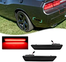 GTINTHEBOX 2PCS Smoked Lens Red LED Rear Bumper Side Marker Lights Lamps Replacement Kit for 2008-2014 Dodge Challenger & 2011-2014 Dodge Charger