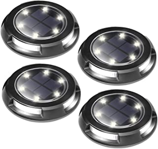 outdoor solar led puck lights